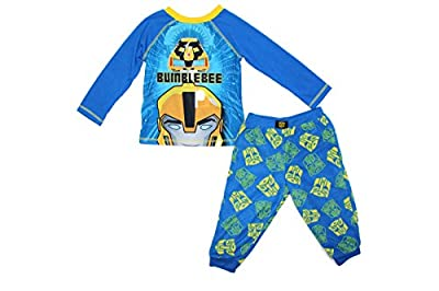 Komar Kids Boys 2 Piece Super Hero Fleece Pajama Pants Set (7, Blue (Transformers))