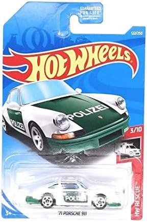 [해외]Hot Wheels 2019 HW Rescue `71 Porsche 911 122250 White and Green / Hot Wheels 2019 HW Rescue `71 Porsche 911 122250, White and Green