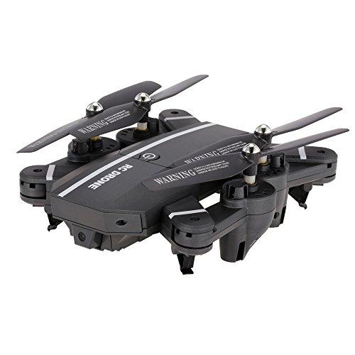 Goolsky Drone 8807W 720P Grand Angle Caméra Wifi FPV Drone Pliable 6 Axes Gyro Altitude Tenue Sans Mode G-capteur RC Quadcopter avec 2 Batteries Supplémentaires