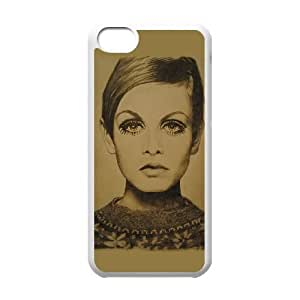 iPhone 5c Cell Phone Case White Twiggy. Uwony