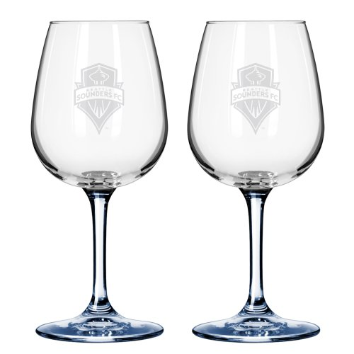 MLS Seattle Sounders FC 12-Ounce Wine Glasses (2-Pack)