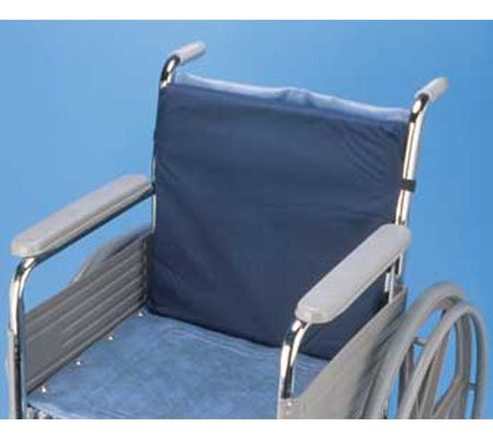 Wheelchair Cushion - Polycotton Cover - Navy - Memory Foam - Use With Any Wheelchair - By Hermell Products