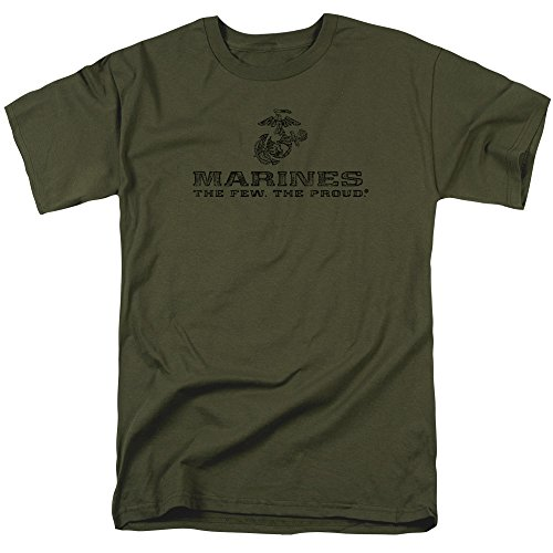 Trevco US Marine Corps Distressed Logo Unisex Adult T Shirt For Men and Women