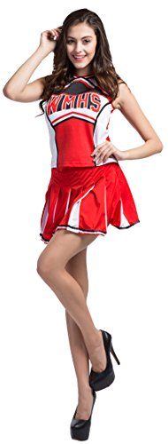 Fedo Design Women's Adult Glee Club Teen Cheerleader Musical Uniform Fancy Dress (Glee Costume)