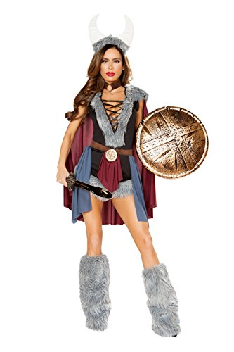 Sexy Viking Warrior Costumes (Shieldmaiden Adult Costume - Small)