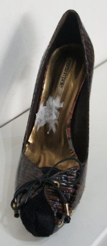 Moda In Pelle , Damen Pumps Schwarz Brown / Black (Animal Print) 3 UK / 36 EU