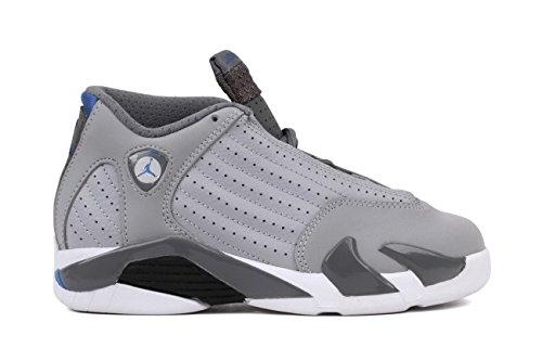 Nike Jordan 14 Retro BP Kids Sneakers Wolf Grey/Cool Grey/White/Sport Blue 312092-004 (SIZE: 10.5)
