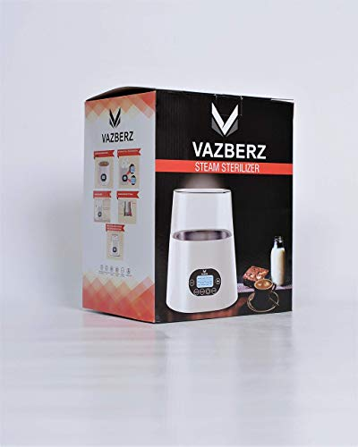 Baby Bottle Sterilizer & Warmer for Breastmilk with High Temperature Steam Sterilizer, Stainless Steel Liner, Double-Screen Display, LCD Intelligent Display, Intelligent Dry Burning, Intelligent Touch by VAZBERZ (Image #1)