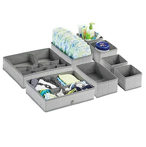 Hebel Fabric Dresser Drawer Storage Closet Organizer, Set of 4 - Blue | Model DRSSR - 405 |