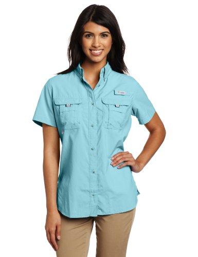 Columbia Women's Bahama Short Sleeve Shirt, Medium, Clear Blue (Columbia Tshirt Woman)
