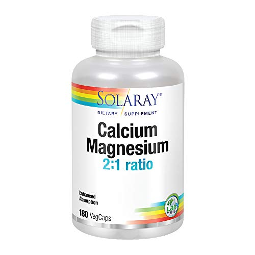 Watercress Herb Powder - Solaray Calcium and Magnesium AAC Capsules, 180 Count (Packaging may vary)