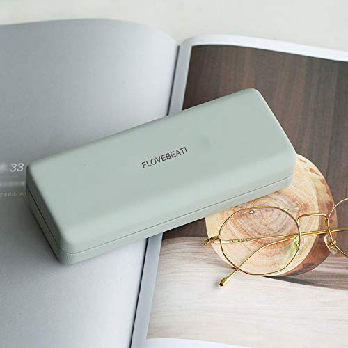 FLOVEBEATI Portable Travel Elegant Hard Glasses Case Containers for Contact Lens