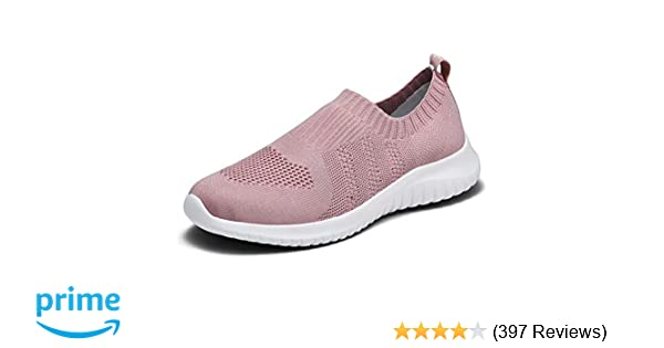 a5282b6b4a2ee konhill Women's Walking Tennis Shoes - Lightweight Athletic Casual Gym Slip  on Sneakers