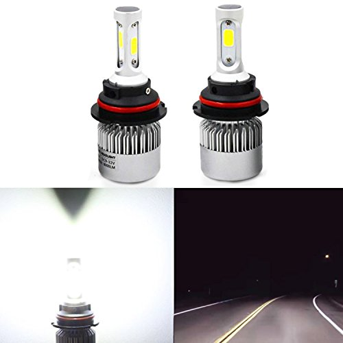Chevrolet Base Cavalier 02 (Alla Lighting Extremely Super Bright High Power COB Chipset HB5 9007 9007LL LED Headlight Bulbs w/ 8000Lm 6500K Xenon White for Replacing High Low Beam Halogen Headlamp All-in-One Conversion Kits)