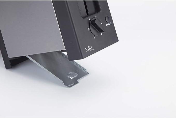 Jata Tt607 Tostador Compacto Acero Inoxidable con Dos Ranuras Extra Anchas de 30 mm de Ancho Centrado Automático Del Pan Bandeja Recogemigas: Amazon.es: Hogar