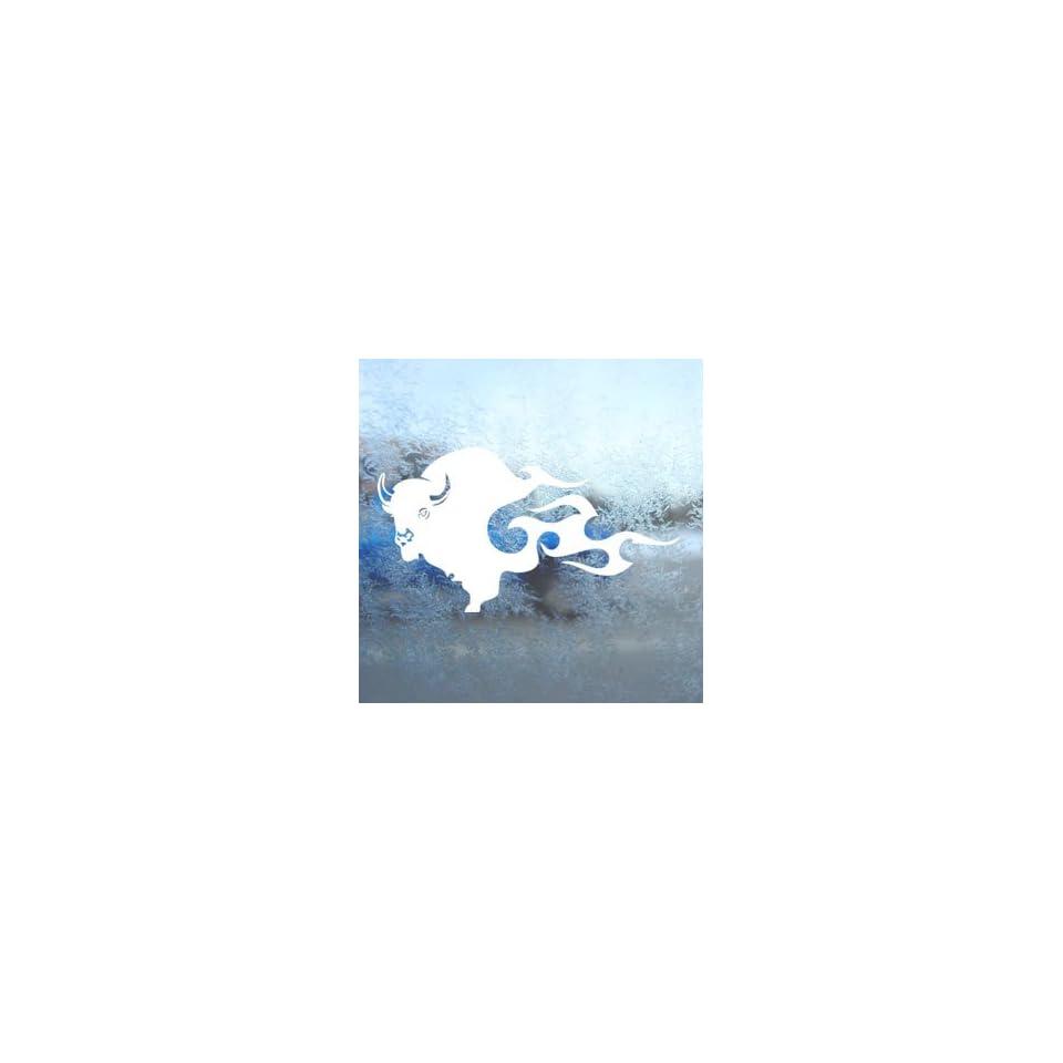 BUFFALO BISON White Decal Car Laptop Window Vinyl White Sticker Arts