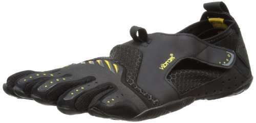 Vibram Men's Signa Water Shoe, Black/Yellow, 46 EU/12.5 M US