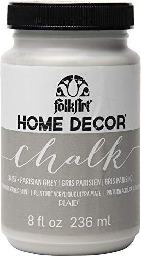 FolkArt Home Decor Chalk Furniture & Craft Paint in Assorted Colors (8 Ounce), 34167 Parisian Grey