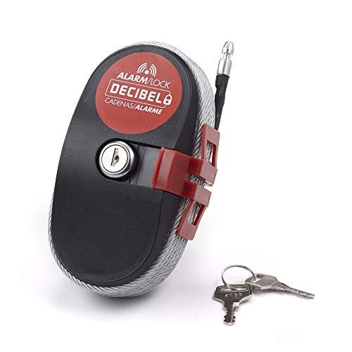 Ideal Security Inc. SL1005 Decibel Multi-Use Lock Alarm 10m (30ft) Cable Alarm-30 ft Steel Cable-120 Weather-Portable Security, 30-FEET, Black
