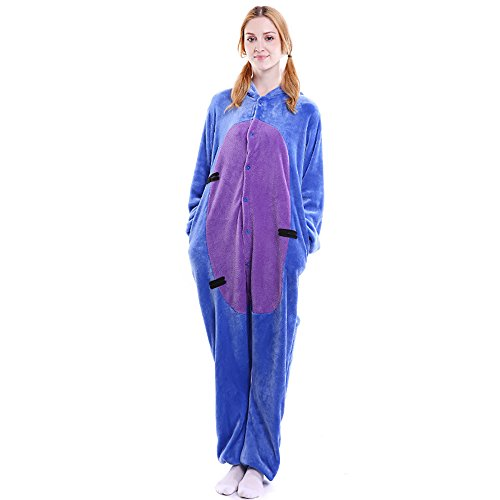Eeyore Costume Baby (FLEAP Onesie Pajamas Animal Sleepwear Kigurumi Cosplay Cartoon Nightwear Halloween,Eeyore,Small)