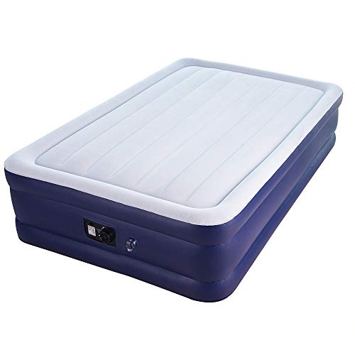 Sable Air Bed with Built-in Electric Pump, Raised Blow up Inflatable Mattress with a Storage Bag, Height 18 Inches, Queen Size (Target Air Mattress)