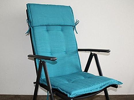 Cuscini Con Schienale Per Sedie Da Esterno : Cuscino per sedia da giardino sunny comfort di ghiaccio blu con