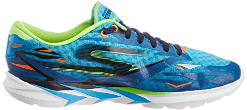 Skechers Go Meb Speed 3 Mens Scarpe Da Corsa Blu / Lime