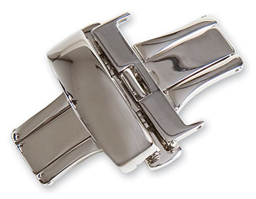 Chrome Butterfly Deployment Buckle - 14mm