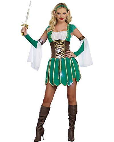 Warrior Elf Costume - Large - Dress Size 10-14]()