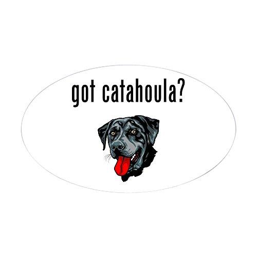 CafePress Catahoula Leopard Dog Oval Sticker Oval Bumper Sticker, Euro Oval Car Decal