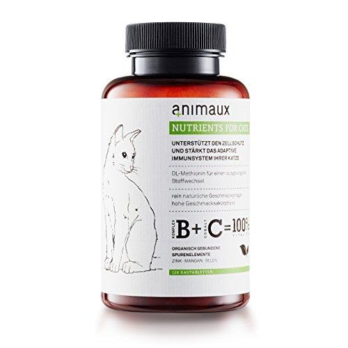 Katzen-Vitamine zur Stärkung des Immunsystems | Unterstützt den Zellschutz auf natürliche Weise | animaux - nutrients for cats | Vom Tierarzt empfohlen | DL-Methionin für einen ausgewogenen Stoffwechsel | Unterstützt das Leistungspotential | rein natürliche Geschmacksträger | hohe Geschmacksakzeptanz | Zink, Mangan, Selen | für gesunde Haut und ein glattes, glänzendes Fell
