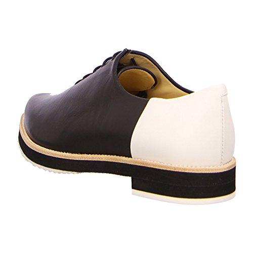Slack London 18662 - Zapatos de cordones de Piel para mujer Negro - black mar