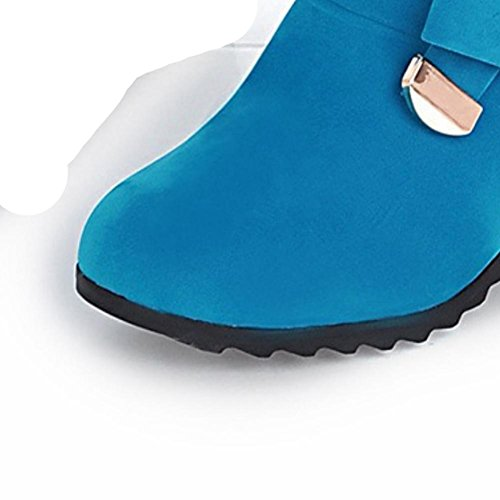 opaca stivali bowknot resistente H con Nero 40 HQuattro all'usura aumentato blu XIAOGANG all'interno donne cintura gomma antiscivolo in stagioni black zwqY77A