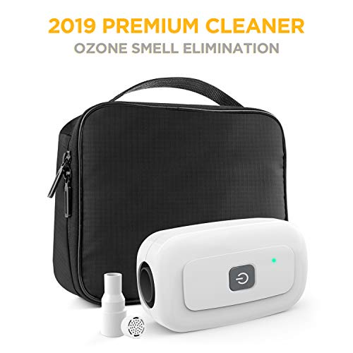 Moocoo 2019 Premium CPAP Cleaner Bundle (NO More Bad Smell of Ozone) for CPAP Mask, Cusion, Regular & Heated Hose Pipe Tube Accessories and Equipment (Best Travel Cpap Machine 2019)