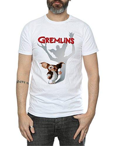 shirt Blanc Gremlins Gizmo Shadow Homme T nFwzP8q