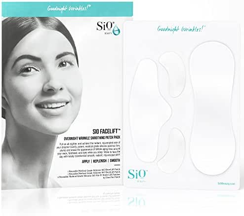 SiO FaceLift | Neck, Forehead, Eye & Smile Anti-Wrinkle Patches | Overnight Smoothing Silicone Patches For Face, Neck, Forehead, Eye & Smile Fine Lines And Signs Of Aging
