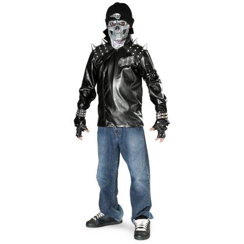 Boy's Metal Skull Biker
