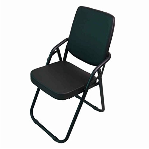 - Chi Cheng Fang Electronic business Folding Chairs Steel Folding Back Chair Laptop Office Chairs Student Dorm Computer Chair Office Clerk Work Chair Black