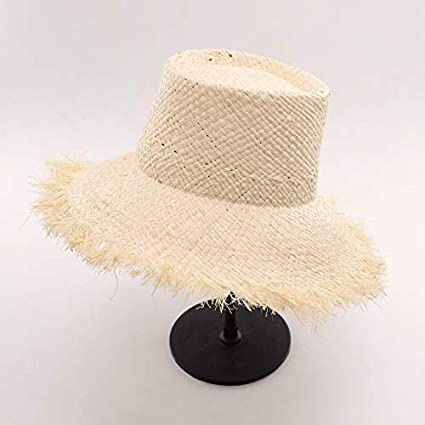 Amazon.com   ALWLj Bucket Hats Sun Hat for Women Raffia Straw Boater ... fadbde56e12