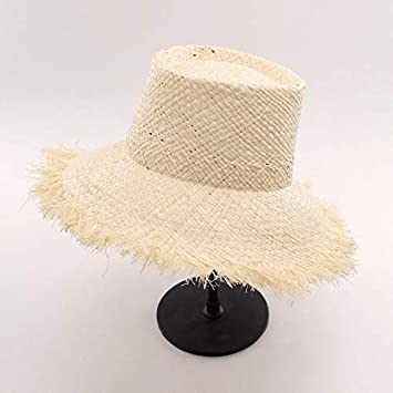 573c1c7ba64 Amazon.com   ALWLj Bucket Hats Sun Hat for Women Raffia Straw Boater ...