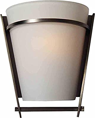 Volume Lighting V3731-44 Architectural 1 Light Black Brushed Nickel Wall Sconce