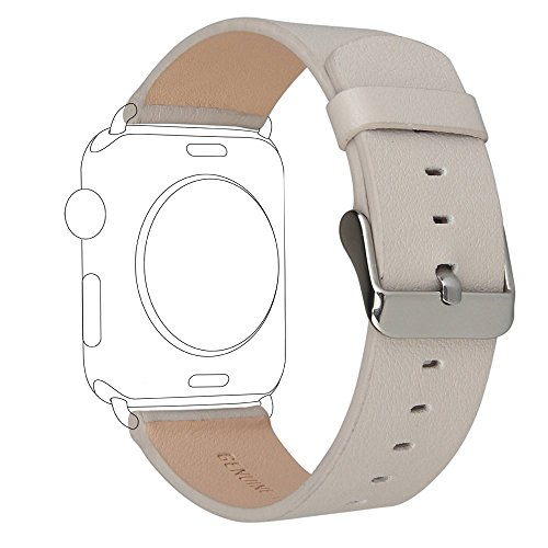 Autumn Walnut (For Apple Watch Band 38mm Series 1 Series 2 Series 3,TOROTOP Luxury Walnut Brown Genuine Leather Watch Band Strap Replacement Wrist Band With Adapter Clasp for 38mm Apple Watch & Sport & Edition)