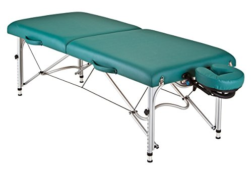 EARTHLITE Portable Massage Table Luna - Ultra-Lightweight, Patented Aluminum Reiki Frame incl. Flex-Rest Face Cradle & Carry Case (29lb)