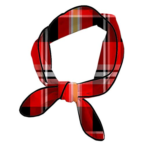 - Women Knotted Headbands Multifunction Red Buffalo Plaid Head Ribbon Ribbon Scarf For Running Fitness Shower, Headbands For Girls Head Decor Handbag Wrap Neck Sash