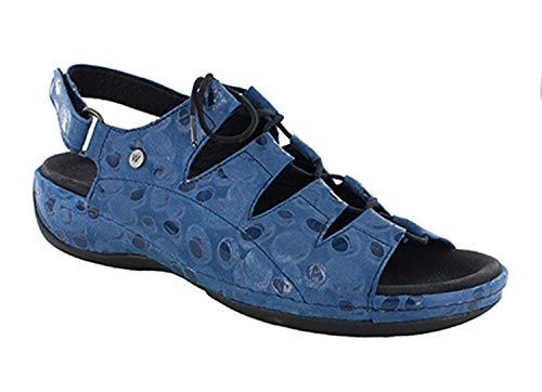 Wolky 310 Women's Kite Sandal, Blue - 38 B EU ()