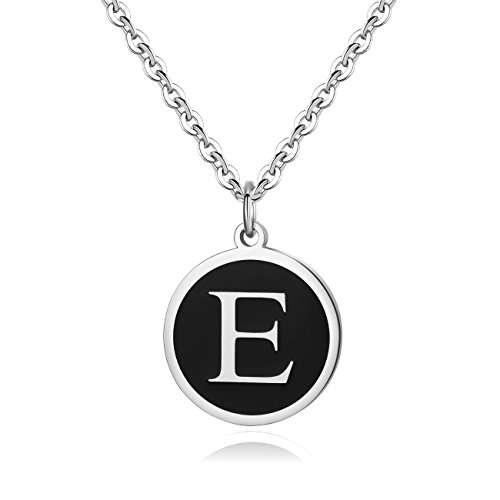 (REVEMCN Stainless Steel Alphabet and Bible Verse Proverbs 4:23 Pendant Necklace for Men Women with Keyring and 22'' Chain (Silver-Tone:)