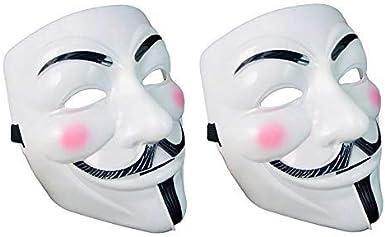 Halloween Masks,V for Vendetta Mask Halloween Costume anonymous guy mask Children's hacker mask, 2Pcs