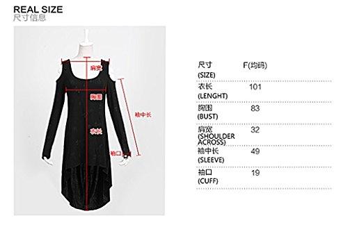 pullover pullover camicia donna a lunghe tunica tunica tunica pt Punk maniche 025 rave da vestito nbsp;gotico n7qRH4p
