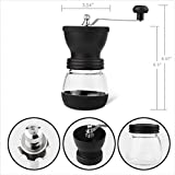 Manual Coffee Grinder with Ceramic Burrs, Hand