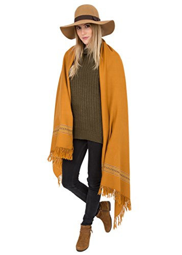 Mansi Merino Handwoven Shawl and Oversize Scarf Camel 100 X 200cm